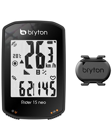 Bryton Rider 15 Neo C GPS Cycling Computer with ANT+/Bluetooth Cadence Sensor, Black