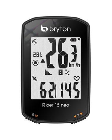 Bryton Rider 15 Neo E GPS Ciclocomputer, Nero