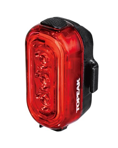 Topeak Tail Lux Luce 100 USB Posteriore a Led Rosso 100 Lumens (Batteria Integrata - 9 Led)