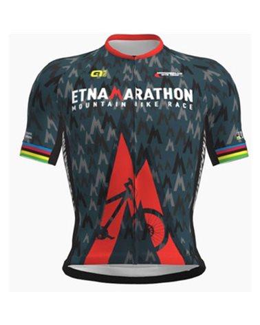 Etna Marathon 2019 Men's Full Zip Cycling Short Sleeve Jersey