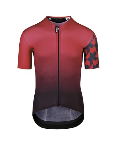 Assos Equipe RS Summer Prof Edition Men's Short Sleeve Full Zip Cycling Jersey, Vignaccia Red