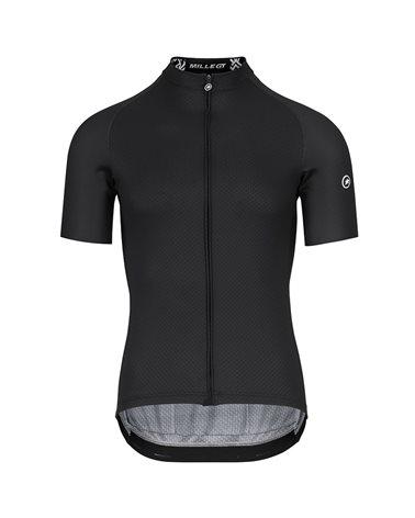 Assos Mille GT Summer C2 Men's Short Sleeve Full Zip Cycling Jersey, Black Series
