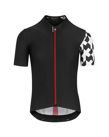 Assos Equipe RS Aero Men's Short Sleeve Full Zip Cycling Jersey, Black Series