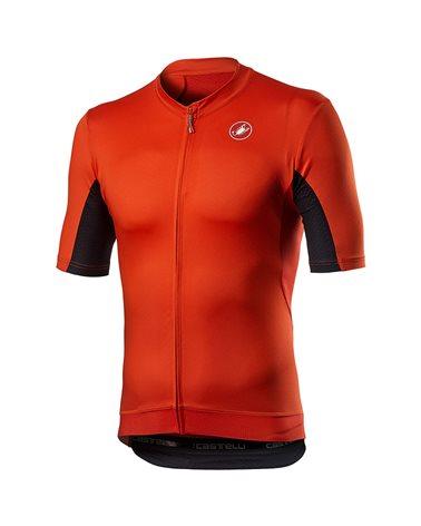 Castelli Vantaggio Men's Short Sleeve Cycling Jersey, Fiery Red/Black