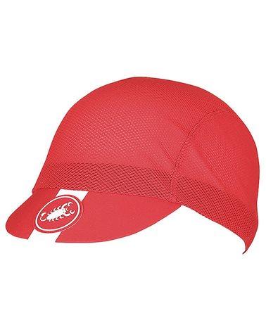 Castelli A/C Cappellino Ciclismo, Rosso (Taglia Unica)