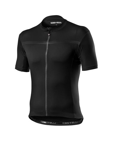 Castelli Classifica Maglia Maniche Corte Full Zip Uomo, Light Black