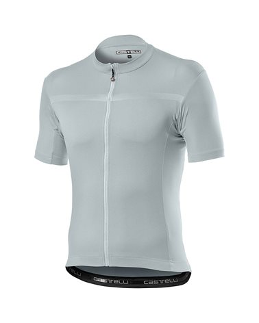 Castelli Classifica Men's Full Zip Short Sleeve Cycling Jersey, Silver Gray