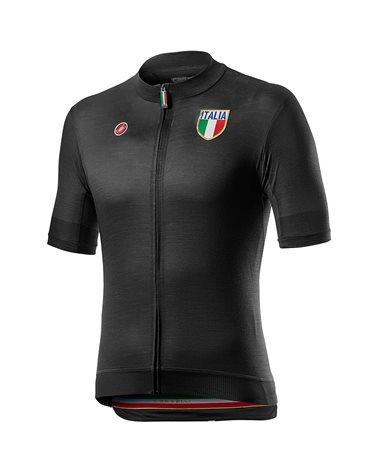 Castelli Italia 2.0 Maglia Maniche Corte Uomo, Light Black