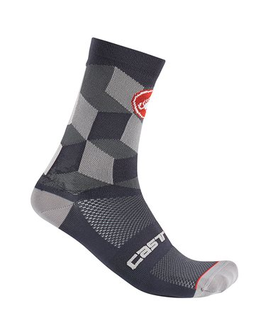 Castelli Unlimited 15 Calze Ciclismo, Dark Gray