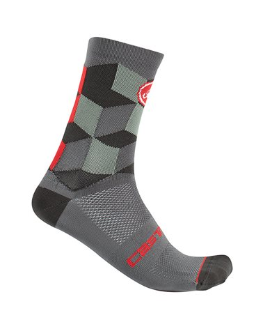 Castelli Unlimited 15 Cycling Socks, Forest Gray