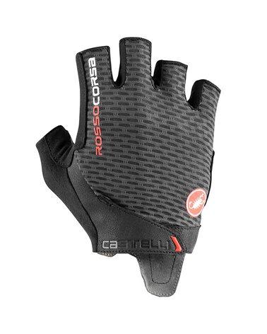 Castelli Rosso Corsa Pro V Rosso Corsa Cycling Short Fingers Gloves, Dark Gray