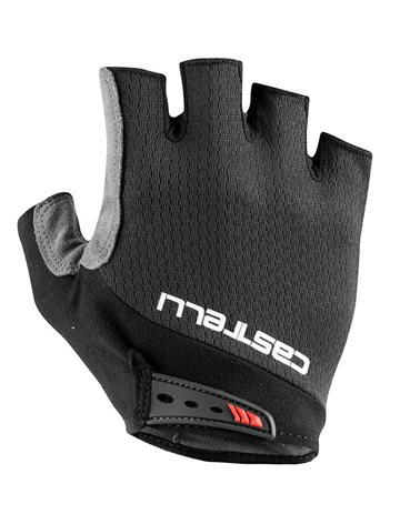 Castelli Entrata V Cycling Short Fingers Gloves, Light Black