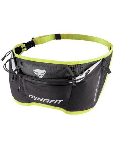 Dynafit Flask Belt Running Hydration Waist Pack, Black/Fluo Yellow