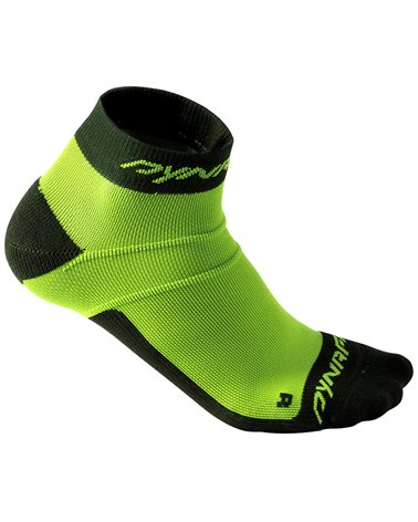 Dynafit Vertical Mesh Footie Calze Corte Trail Running, Fluo Yellow/0980