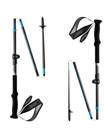 Dynafit Ultra Pro Foldable Trail Running  Carbon Pole 115-135 cm , Carbon/Methyl Blue (Pair)