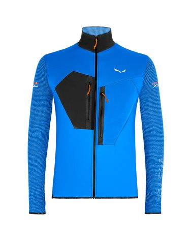 Salewa X-Alps Alpha Polartec Men's Full Zip Speed Hiking Jacket, Cloisonne/0910