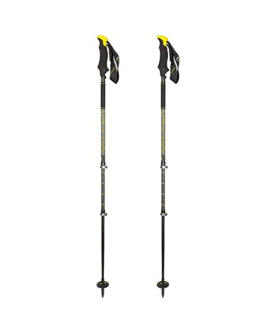 Salewa Carbonium Ascent Bastoncini Telescopici da Trekking 68-142,5 cm, Yellow (Coppia)