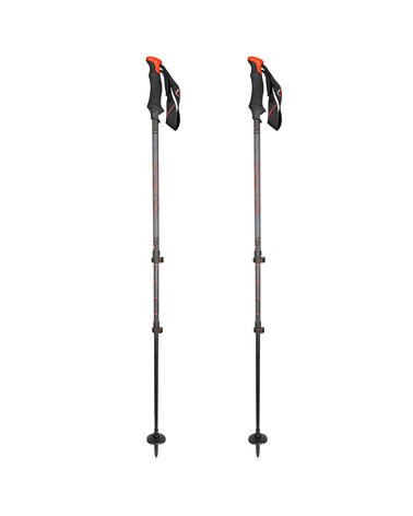 Salewa Carbonium Tour Bastoncini Telescopici da Trekking 68-142,5 cm, Red (Coppia)