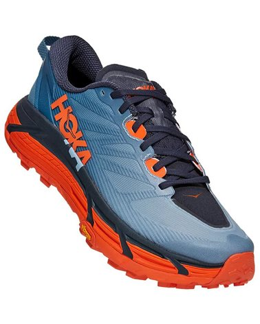 Hoka One One Mafate Speed 3 Men's Trail Running Shoes, Provincial Blue/Carrot