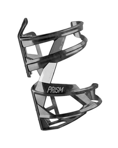 Elite Bottle Cage Prism Right, Black/White Logo