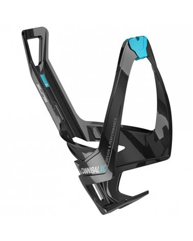 Elite Bottle Cage Cannibal XC Fiberglass, Black/Blue (Glossy)