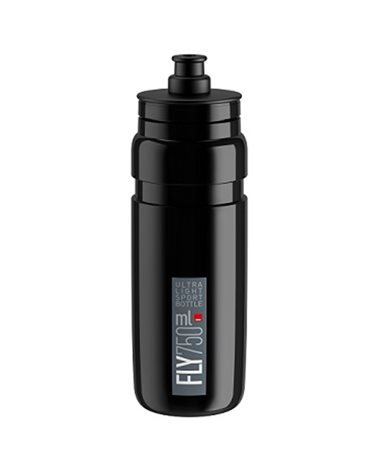 Elite Borraccia Fly 750ml, Nero Logo Grigio