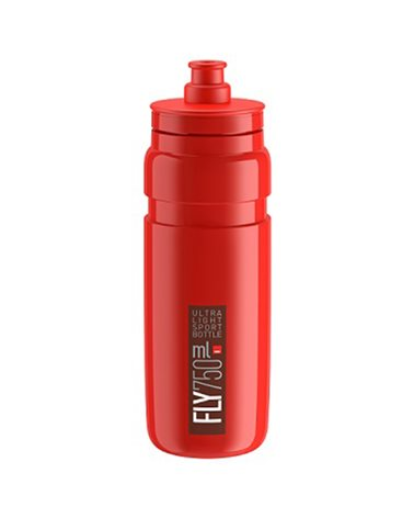 Elite Borraccia Fly 750ml, Rosso Logo Bordeaux