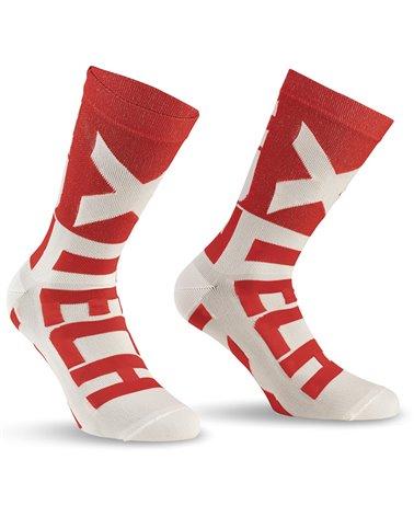 XTech XT132 Cycling Socks, Red/White