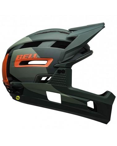 Bell Super Air R MIPS MTB Helmet, Matte-Gloss Green/Infrared