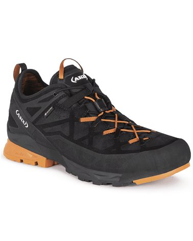 Aku Rock DFS GTX Gore-Tex Men's Approach Shoes, Black/Orange