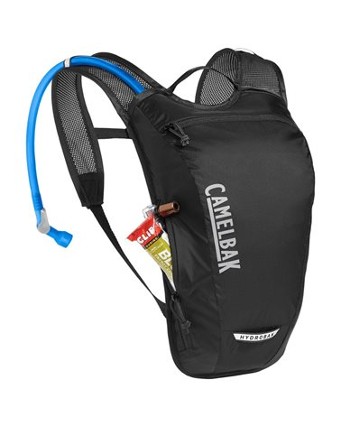 Camelbak Hydrobak Light 2.5 Liters Cycling Hydration Pack, Black/Silver (1.5 Liters Crux Reservoir Included)