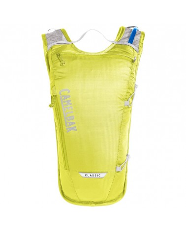 Camelbak Classic Light 4 Liters Cycling Hydration Pack, Safety Yellow/Silver (2 Liters Crux Reservoir Included)