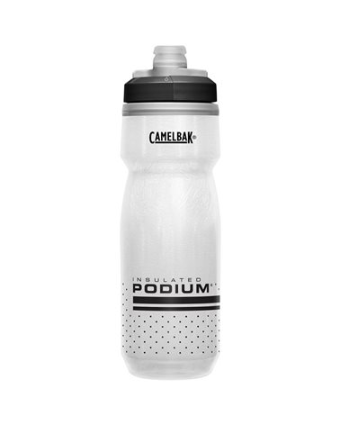 Camelbak Podium Chill Insulated 620 ml/21oz Water Bottle, White/Black