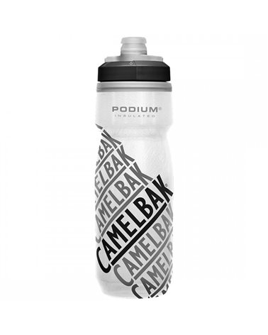 Camelbak Podium Chill Insulated 620 ml/21oz Borraccia Termica, Race Edition - Grey