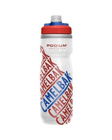 Camelbak Podium Chill Insulated 620 ml/21oz Borraccia Termica, Race Edition - Red