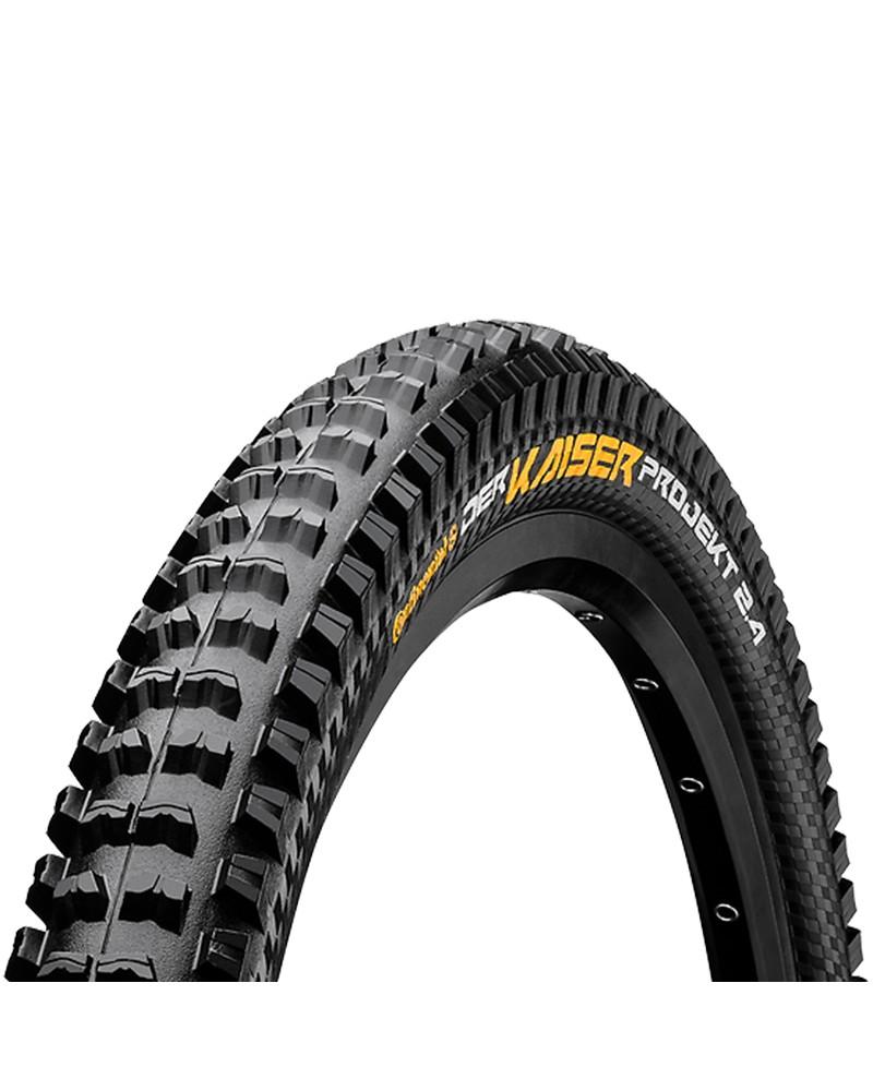 Continental Der Kaiser 2.4 Projekt ProTection Apex 27.5x2.4 Folding Tyre, Black/Black Skin