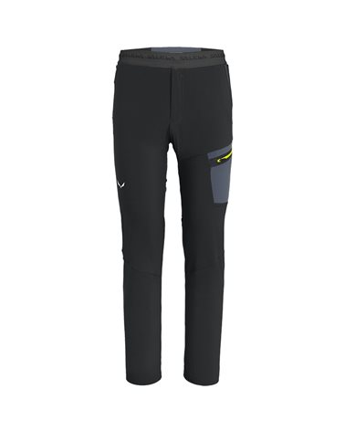 Salewa Pedroc Light DST Durastretch Men's Trekking Pants, Black Out