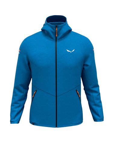 Salewa X-Alps Dry'ton Men's Full Zip Alpine Mountaineering Jacket, Cloisonne Blue