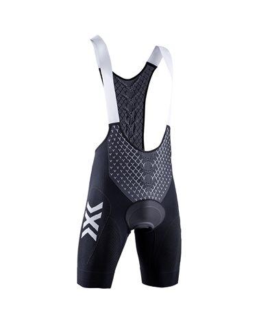 X-Bionic Twyce 4.0 Cycling Bib Short Salopette Corta Uomo, Opal Black/Arctic White (con Fondello)