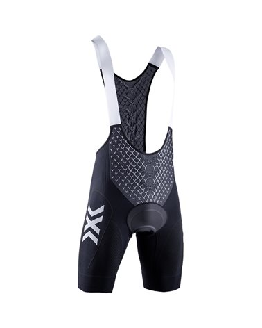 X-Bionic Twyce 4.0 Men's Cycling Padded Bib Short, Opal Black/Arctic White (Pad Included)