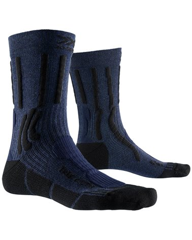 X-Bionic X-Socks Trek X CTN Trekking Socks, Midnight Blue Melange/Opal Black