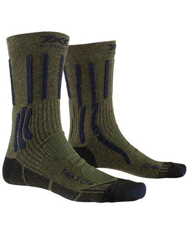 X-Bionic X-Socks Trek X CTN Calze Trekking, Forest Green/Midnight Blue