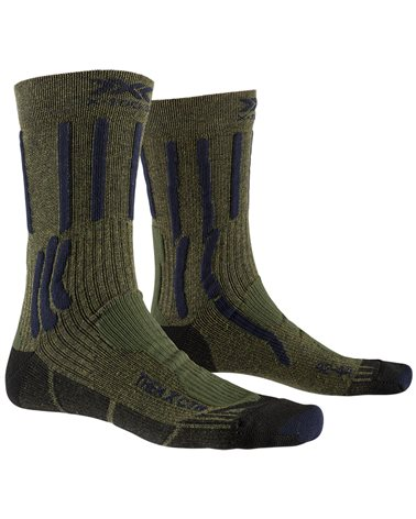 X-Bionic X-Socks Trek X CTN Trekking Socks, Forest Green/Midnight Blue