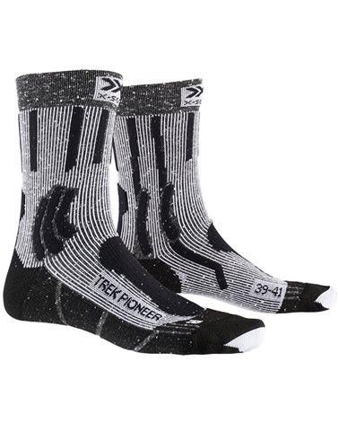 X-Bionic X-Socks Trek Pioneer Calze Trekking, Opal Black/Flocculus White