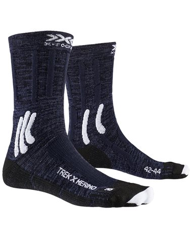 X-Bionic X-Socks Trek X Merino Trekking Socks, Midnight Blue/Arctic White