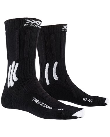 X-Bionic X-Socks Trek X Comfort Trekking Socks, Opal Black/Artic White