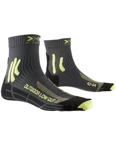 X-Bionic X-Socks Trek Outdoor Low Cut 4.0 Calze Trekking, Anthracite/Lime