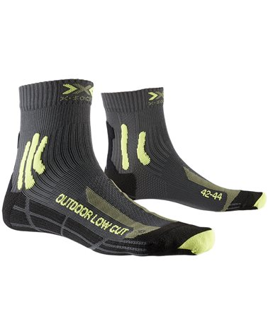 X-Bionic X-Socks Trek Outdoor Low Cut 4.0 Trekking Socks, Anthracite/Lime