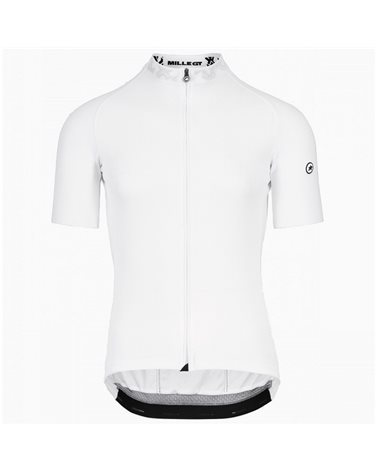 Assos Mille GT Summer C2 Men's Short Sleeve Full Zip Cycling Jersey, Holy White