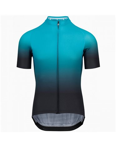 Assos Mille GT Summer C2 Shifter Men's Short Sleeve Full Zip Cycling Jersey, Hydro Blue